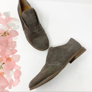 Franco Sarto Gray Suede Leather Oxford Loafers 8.5